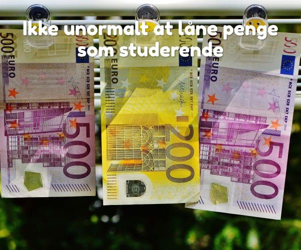 Ikke unormalt at låne penge som studerende